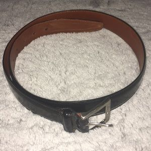 Black Coach Women's Cowhide Leather Belt